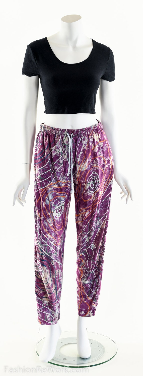 PAINT SPLATTERED Pants,Bright Abstract,High Waist… - image 10