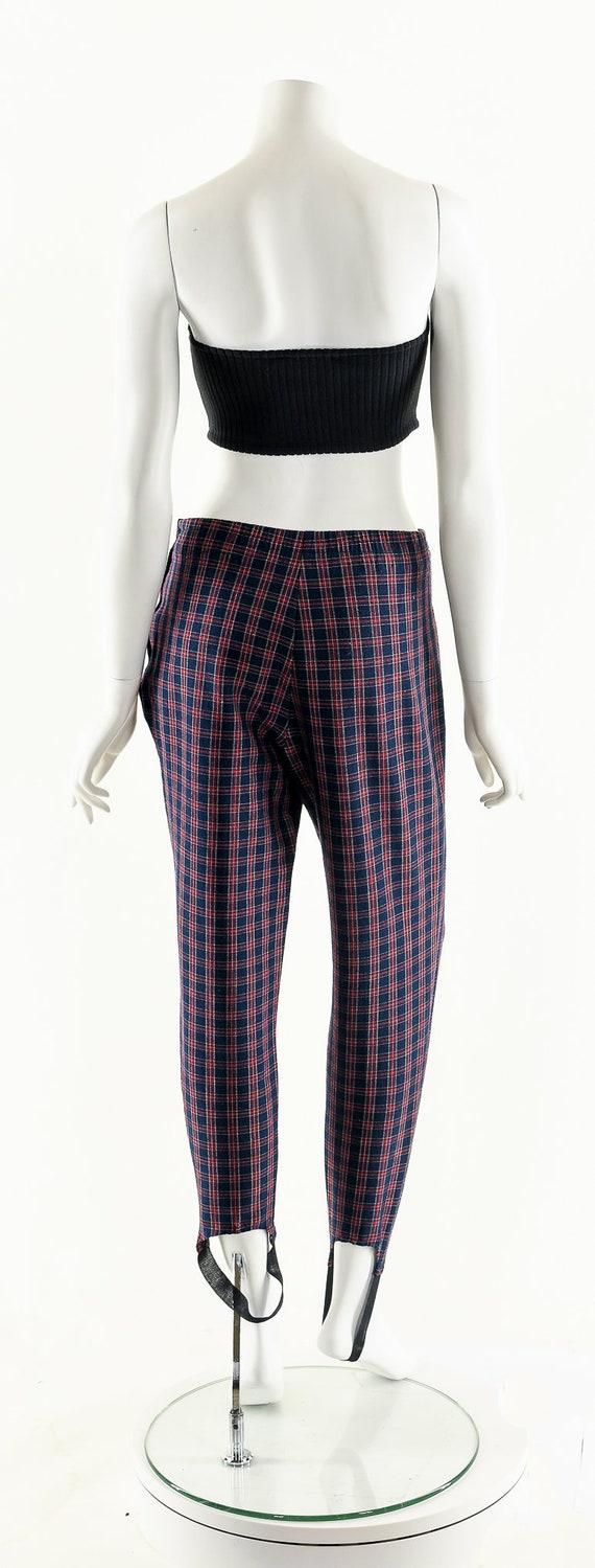 Plaid High Waist Pants,Vintage 80's Pants,Preppy … - image 7