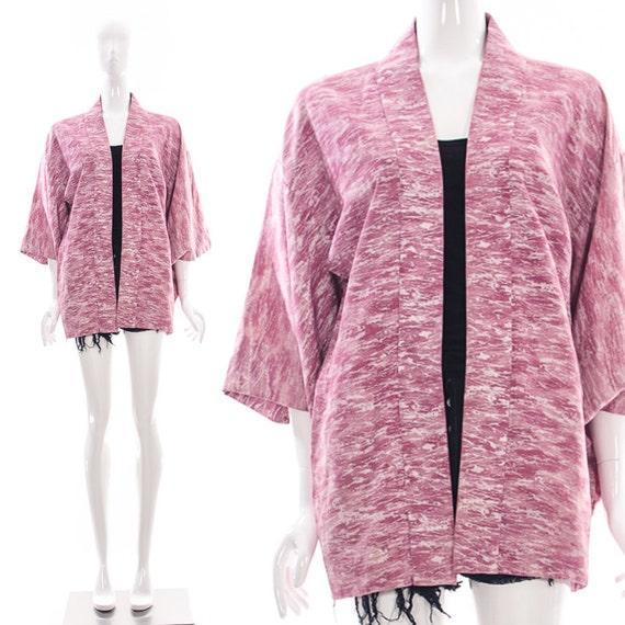 Pink Short Kimono Watercolor ABSTRACT Kimono  ADVA