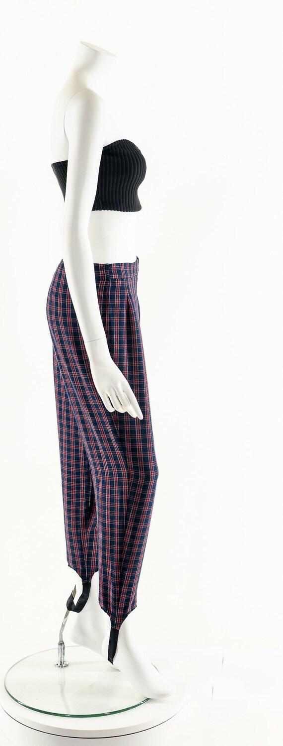 Plaid High Waist Pants,Vintage 80's Pants,Preppy … - image 5