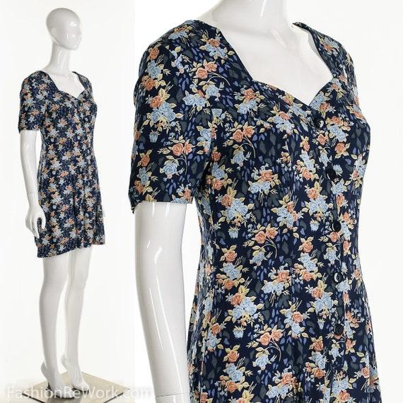 Floral Romper, Rose Romper, Rose Jumpsuit, Blue J… - image 4