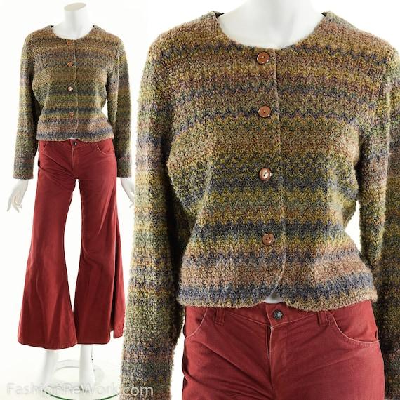 Hand Knit Sweater Jacket, Cropped Sweater Jacket,… - image 2