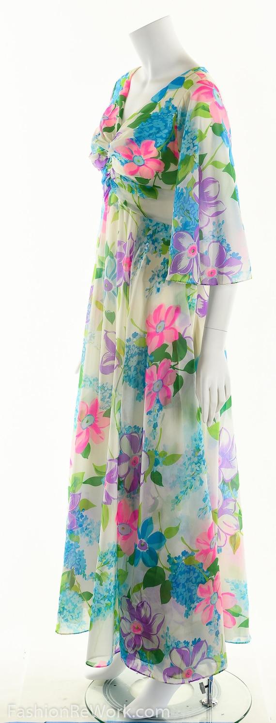 Chiffon Maxi Dress, Dreamy Floral Chiffon Dress, … - image 8