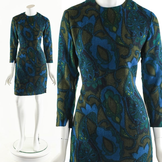 60's Paisley Dress,Cher Boho Dress,Vintage 60's M… - image 10