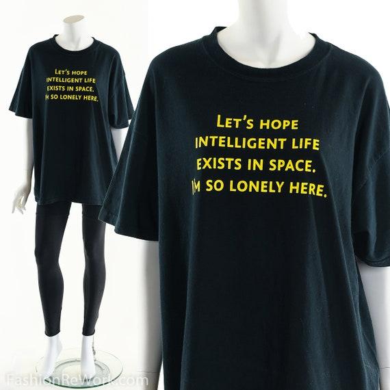 90's Space T-Shirt, Space Tee, Alien T-Shirt, Grun