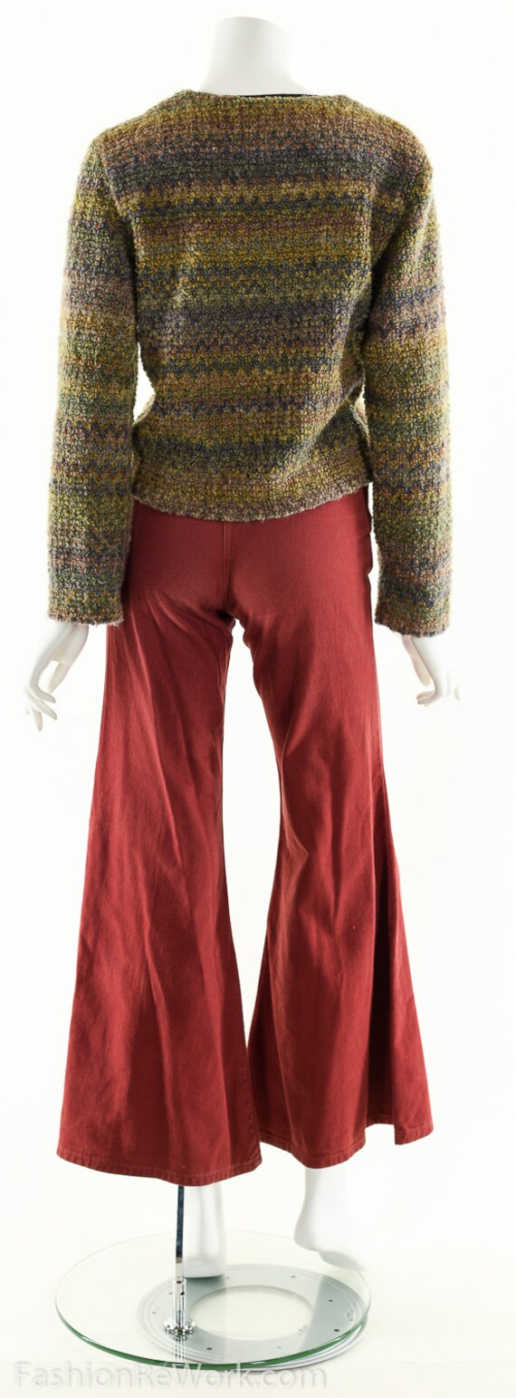 Hand Knit Sweater Jacket, Cropped Sweater Jacket,… - image 4