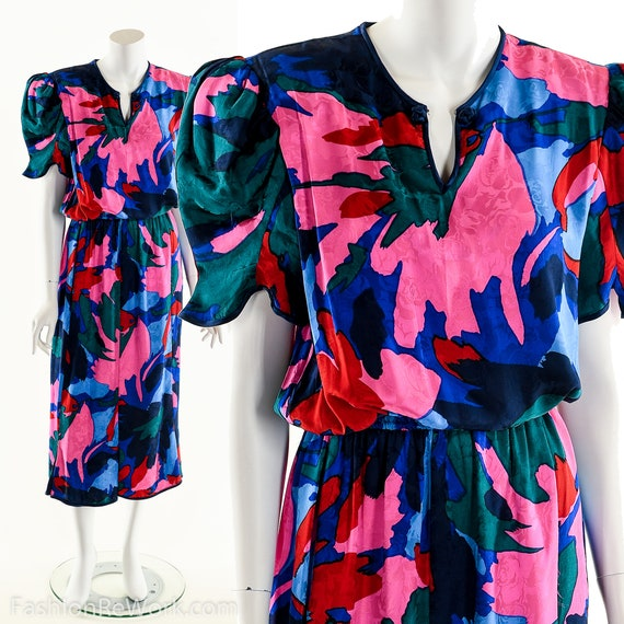 Floral Kung Dress,Vintage Floral Kung,Abstract Flo