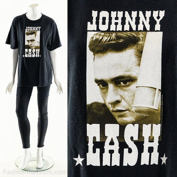 JOHNNY CASH T-Shirt,Vintage Johnny Cash,Ring of Fi