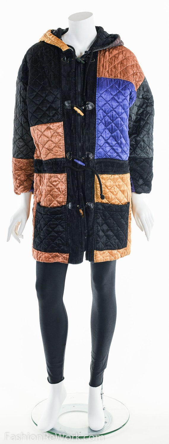 Quilted Jacket, Quilted Hoodie Jacket, Colorblock… - image 8
