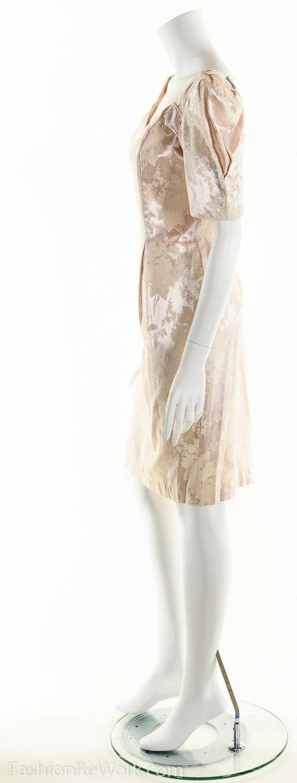 PInk Dress, PInk Brocade Dress, Brocade Dress,Scu… - image 2