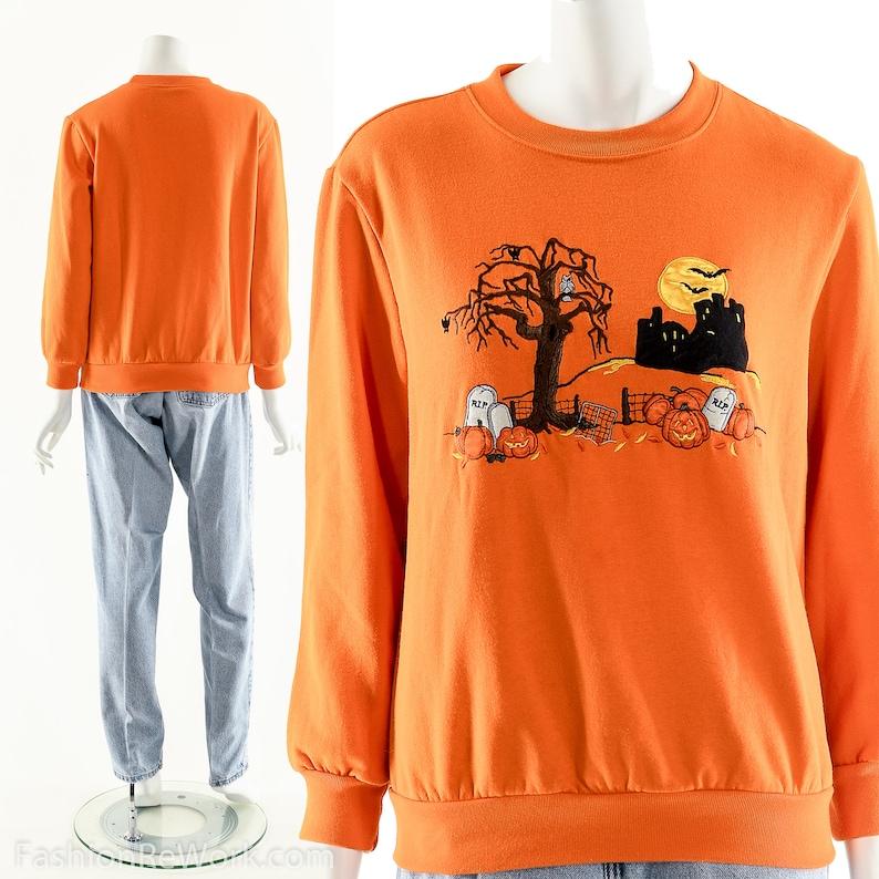 Vintage Halloween ShirtUgly Halloween SweaterGhosts image 0