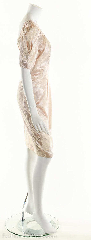 PInk Dress, PInk Brocade Dress, Brocade Dress,Scu… - image 3