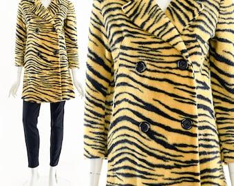 Tiger Faux Fur Jacket,Y2K Animal Fur Coat,Double Breasted Teddy Jacket,Sherpa Teddy Bear Jacket,Tiger Stripe Jacket,Tiger Mom,Joe Exotic