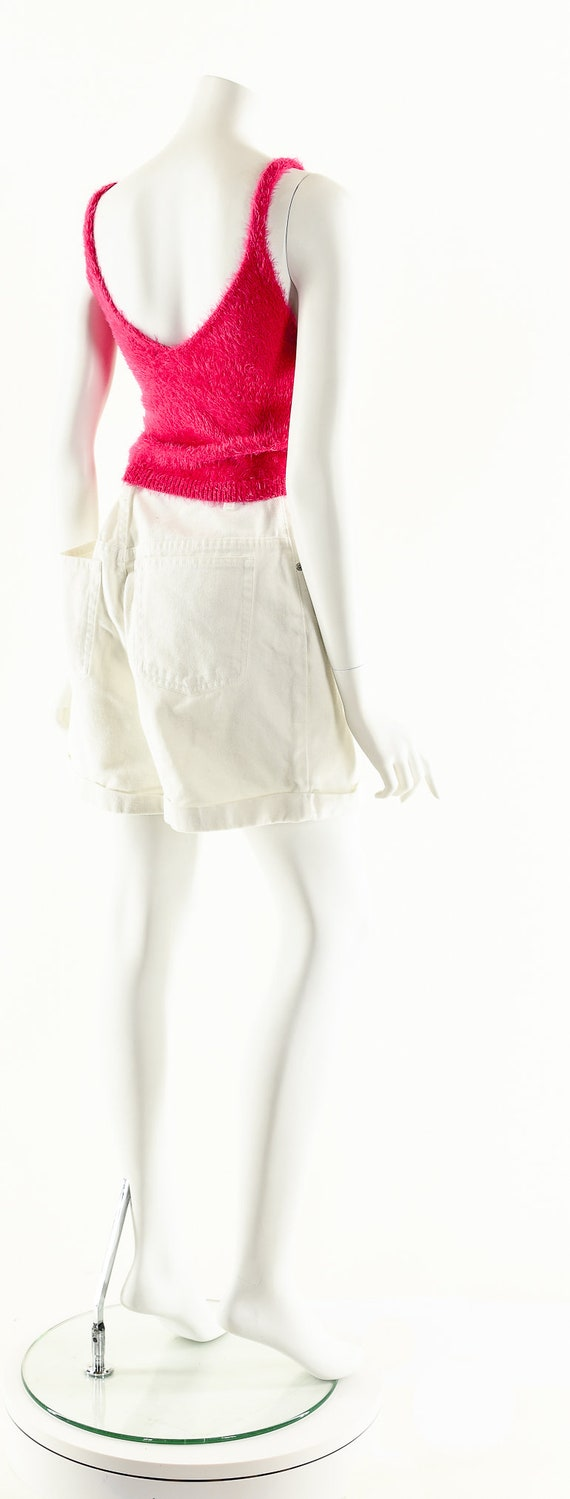 Vintage Denim Shorts,LA Blues Shorts,White Denim … - image 5