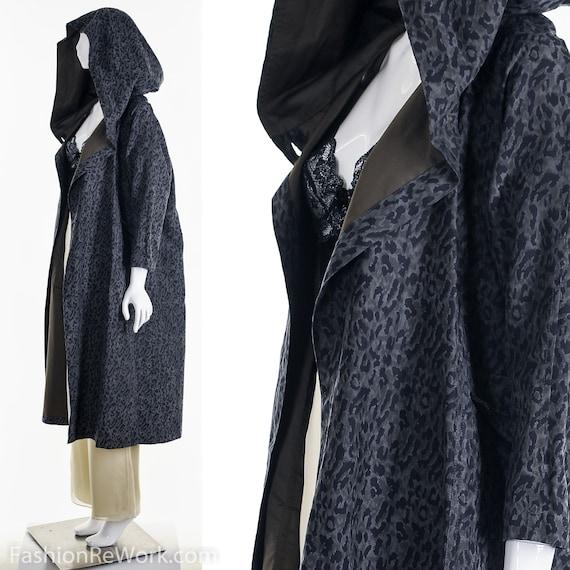 Reversible Leopard Rain Jacket, Designer Reversib… - image 4
