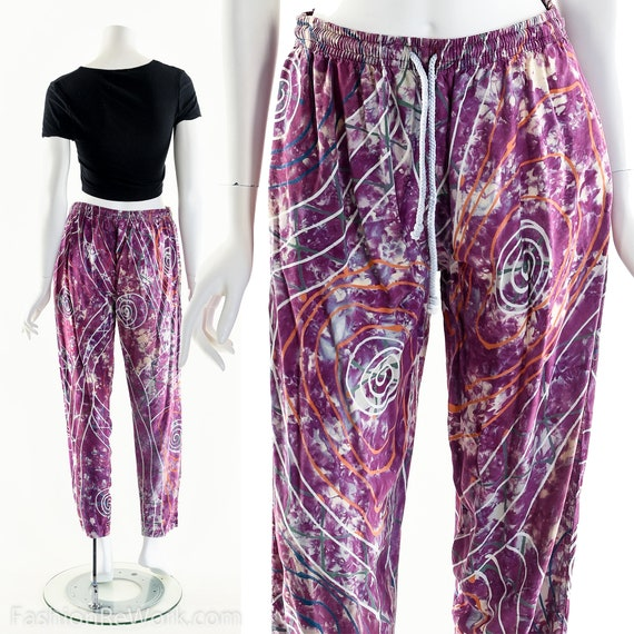 PAINT SPLATTERED Pants,Bright Abstract,High Waist… - image 2