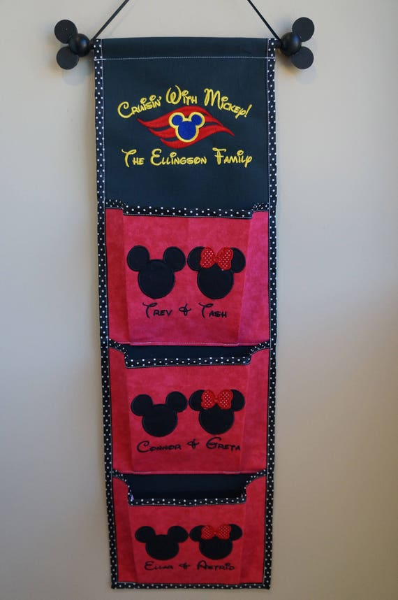 One, Two, Three, Four or Five Pocket Custom Fish Extender For Your Disney Cruise