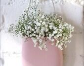 Custom Reserve Listing for Kylie Pink Pink Pink - Porcelain Hanging Wall Pocket