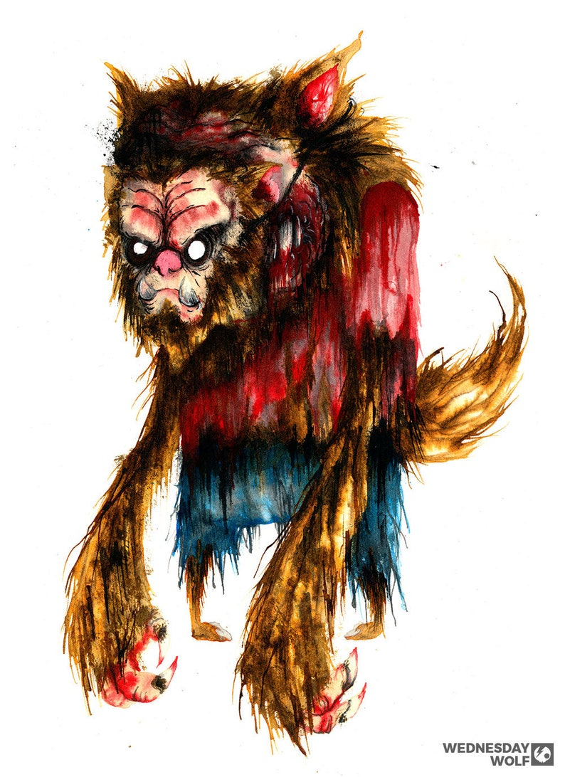 Wolfish  Matte Print image 0