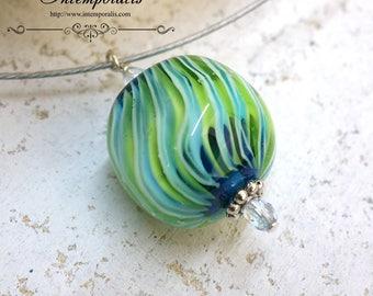 Handmade lampwork Murano glass, OOAK, SAPELW04