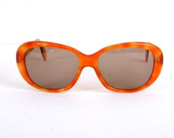 SALE - Orange vintage sunglasses - Boho sun glasses - 70s 80s hippy style - new deadstock womens sunglasses - B grade