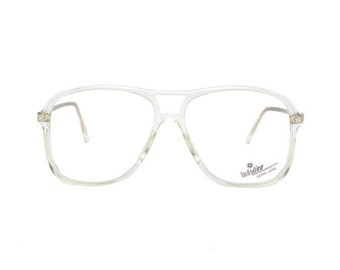 b69758764 transparent aviator glasses - crystal clear vintage eyeglasses frames - 80s  new old stock clear frame glasses oversized