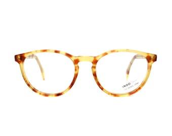 vintage cateye eyeglasses - light brown tortoise glasses frames - original 80s cat eye pastel
