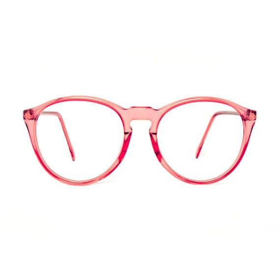 a130a58ee03 Vintage pink transparent round glasses frames mauve red