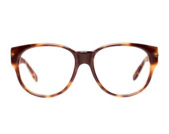 oversized vintage glasses - large brown tortoise eyeglasses - 80s eye glasses frames - new old stock - skindo