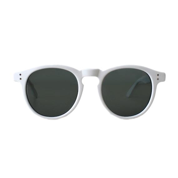 e73128c79 Vintage round white sunglasses oversized mens sun glasses | Etsy