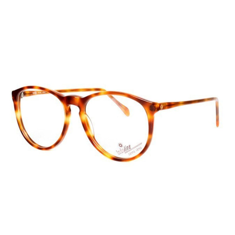 82092966208 Brown round vintage eyeglasses 80s tortoise glasses frames