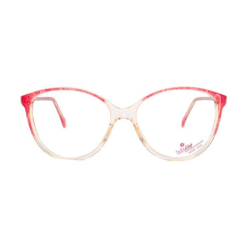 c1b60788cf9 Transparent cateye eyeglasses vintage pink eye glasses