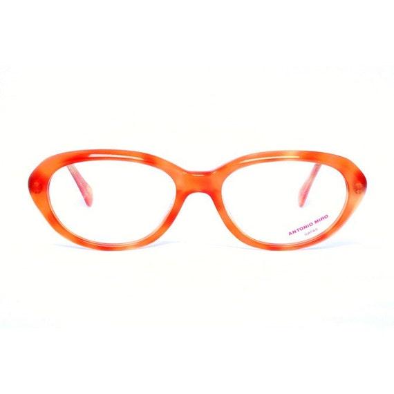 vintage orange glasses oval eyeglasses frame for women | Etsy
