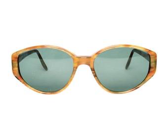brown vintage sunglasses for women - online shop - true vintage eyewear - 1980's deadstock sun glasses - glenda 621