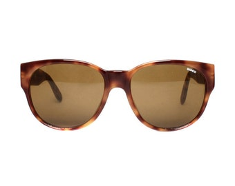 brown tortoise oversized sunglasses - large vintage sunglasses from the 1980s - retro sun glasses - square wayfarer style - glass lenses