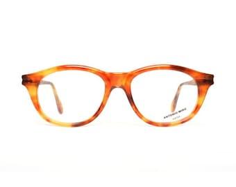 vintage brown tortoise eyeglasses frames - original 80s vintage glasses for her - Antonio Miro Habana