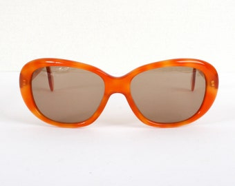 SALE - Orange vintage sunglasses - Discount Boho sun glasses - 70s 80s hippy style - new womens sunglasses - B grade