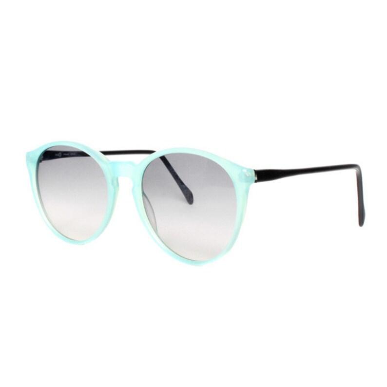 1535af58f2 Vintage bleu rond lunettes de soleil petit ado enfant femmes | Etsy