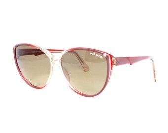 big butterfly sunglasses - red & purple vintage sun glasses - boho chique - hippie 70s flower power - BC Lucero