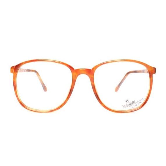 orange brown vintage eyeglasses big square nerd glasses | Etsy