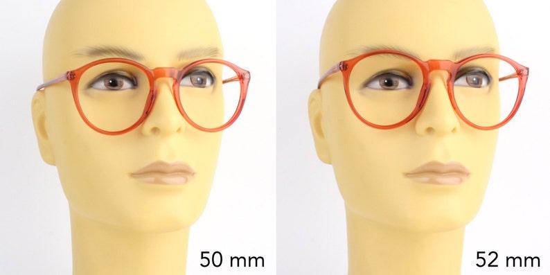 b8dd8c76a Vintage pink transparent round glasses frames mauve red | Etsy