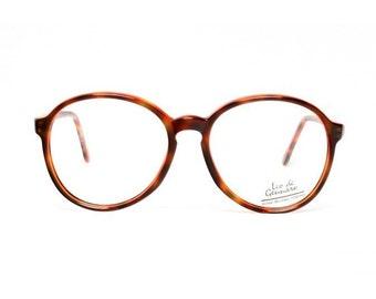 SALE - vintage round glasses frames - tortoise eyeglasses - 1980s oversized glasses frames - now vintage eyeglasses - brown glasses - brandy