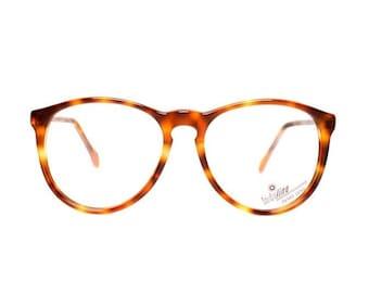 brown round eyeglasses - vintage tortoise glasses - acetate shell eyeglasses - 80s prescription eye glasses frames - women and mens glasses