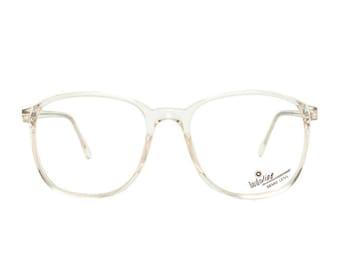 oversized clear frame glasses - crystal transparent vintage eyeglasses - new old stock / never used 80s eyewear - model 632