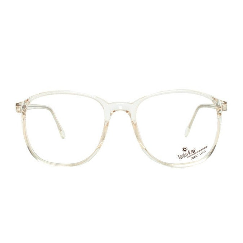 oversized clear frame glasses  crystal transparent vintage image 0