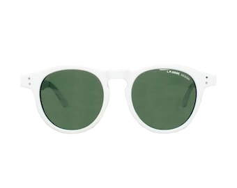 white round sunglasses - rare L.A. Gear vintage sunglasses - round sun glasses model - brand : la gear street dancer