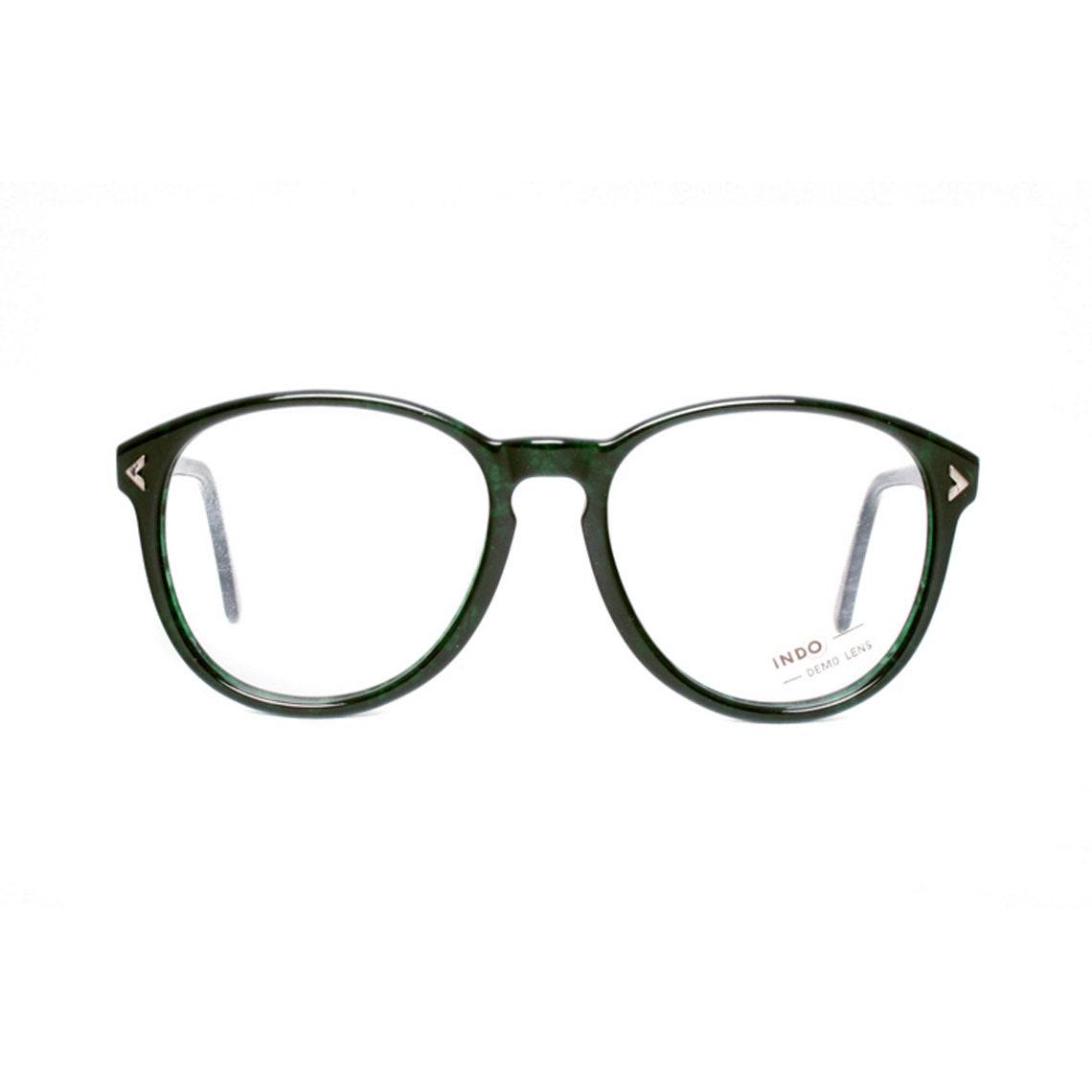 c68e1c68a3 Vintage round glasses frames green eyeglasses 1980s
