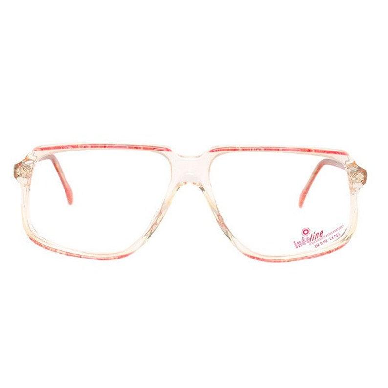 1bf70ee182ed Pink transparent vintage eyeglasses cazal style new