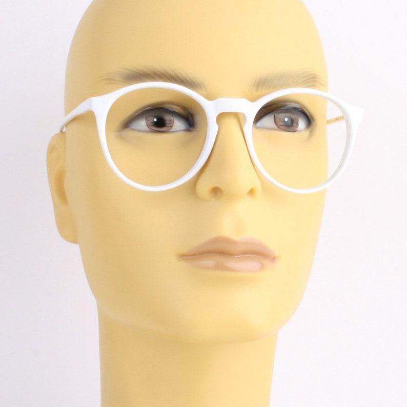 d486a4279 White round glasses frames vintage solid white eyeglasses   Etsy