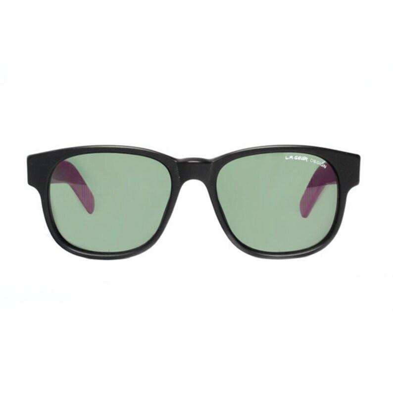 5d7a0b6531 Black purple vintage sunglasses la gear vintage wayfarer